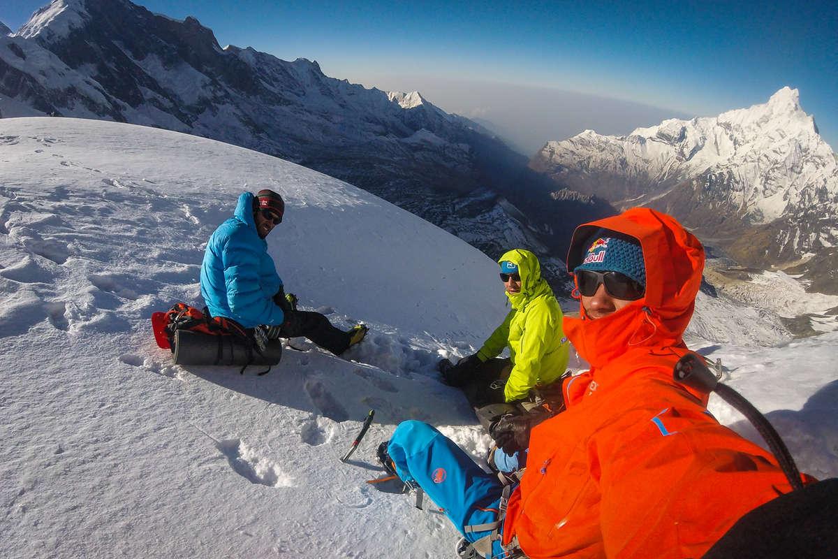 Heftig på Annapurna