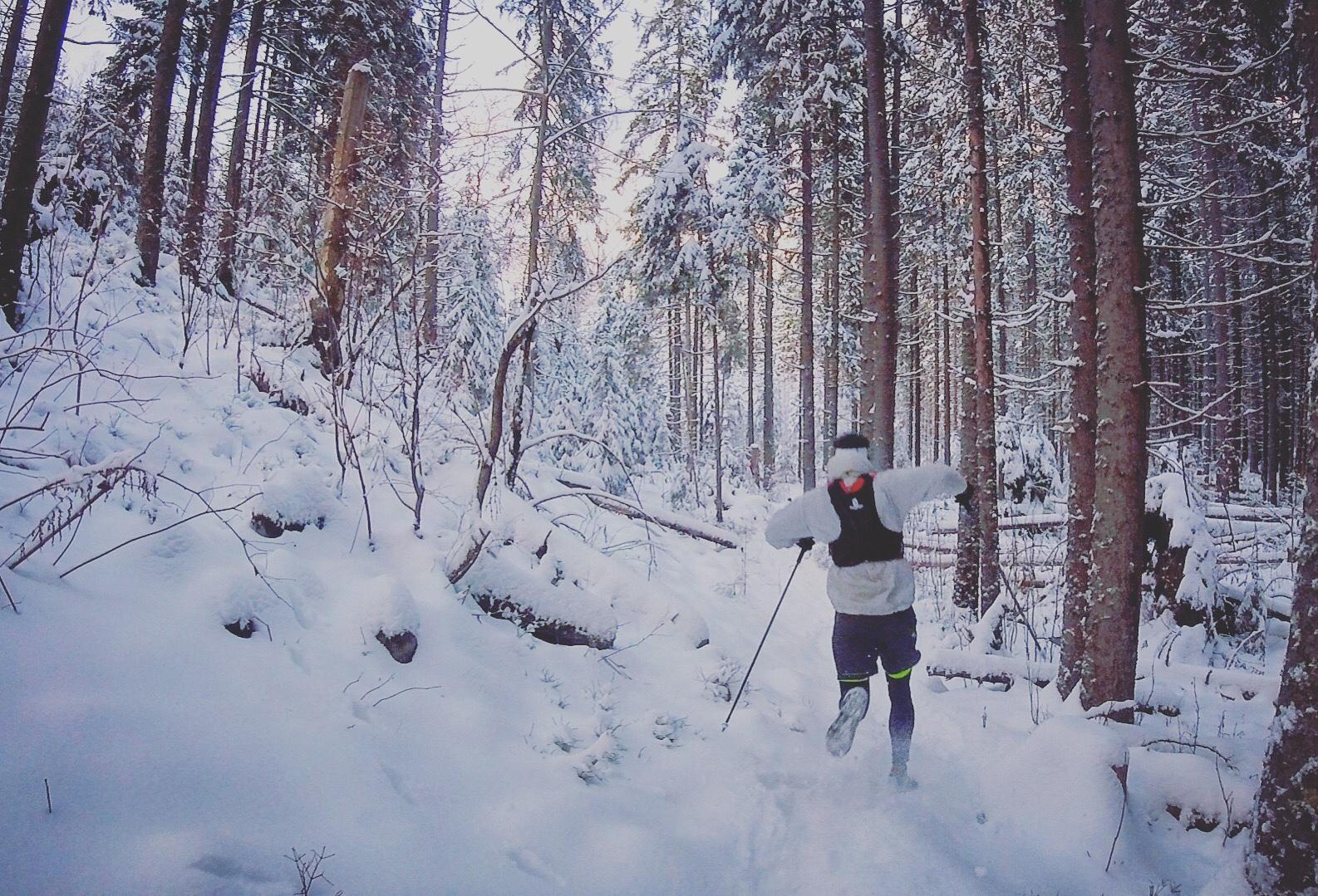Alone in winter wonderland